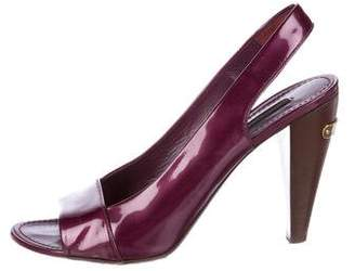 Louis Vuitton Patent Leather Slingback Pumps