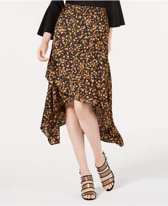 Bar III Ruffled Asymmetrical Midi Skirt, Created for Macy's
