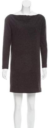 Tomas Maier Bateau Neck Mini Dress