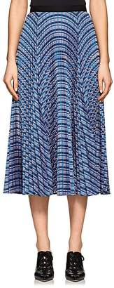 Derek Lam Women's Striped Pleated Midi-Skirt