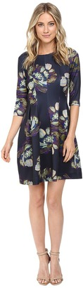 Christin Michaels Emellie 3/4 Sleeve Fit and Flare Dress $94 thestylecure.com