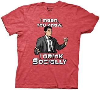 Ripple Junction Archer Drink Socially Mens Red T-Shirt   XL