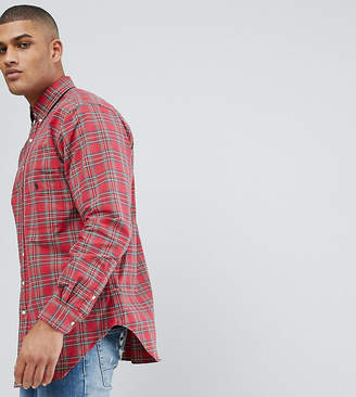 Polo Ralph Lauren Big & Tall Oxford Shirt In Red Check