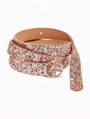Old Navy Skinny Glitter O-Ring Belt for Women