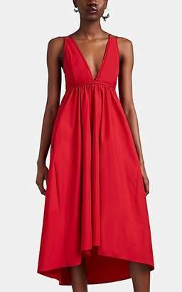 Barneys New York Women's Cotton Poplin V-Neck Dress - Red