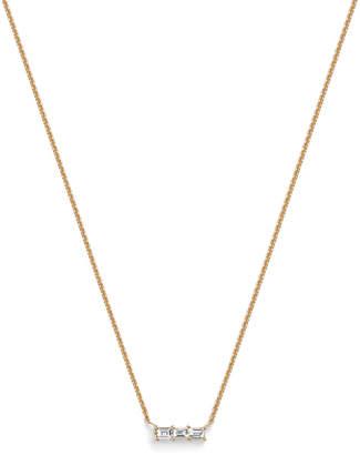 Selin Kent Rhea Baguette Diamond Necklace
