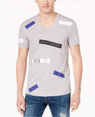 Armani Exchange Men's Graphic-Print V-Neck T-Shirt