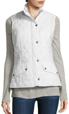 Barbour Flyweight Cavalry Quilted Gilet $179 thestylecure.com