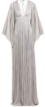 Maria Lucia Hohan Zakiya Front Slit Pleated Maxi Dress - Womens - Silver