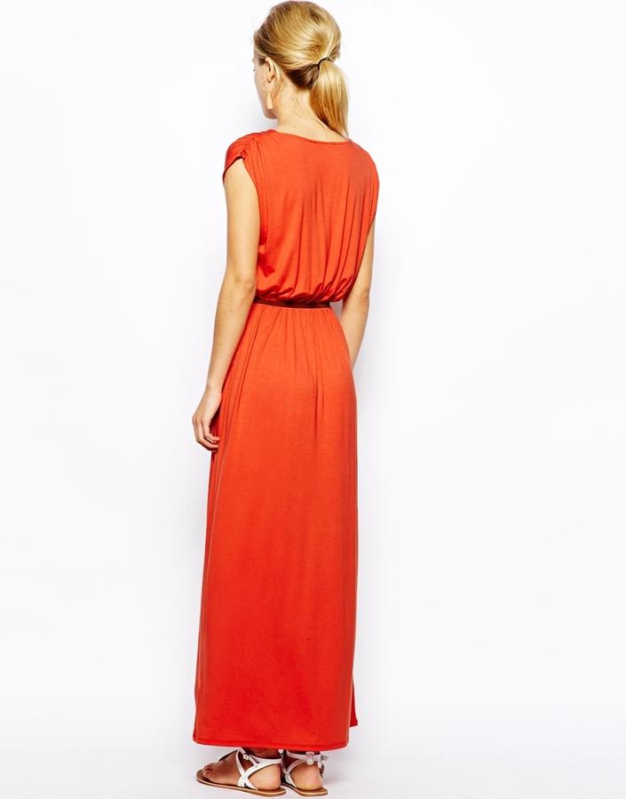 Oasis V Neck Maxi Dress