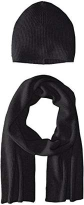 Phenix Cashmere Men's Hat and Scarf Set
