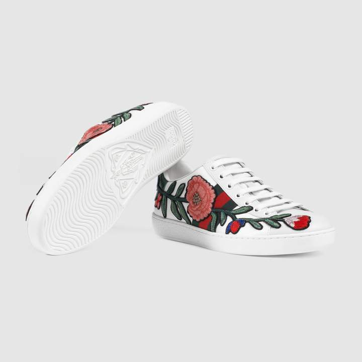 Ace embroidered sneaker 4