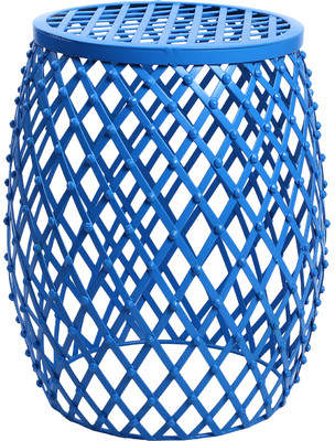 Zipcode Design Tatjana Home Garden Accent Wire Round Stool