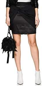 Helmut Lang Women's Twill Sarong Miniskirt-Black