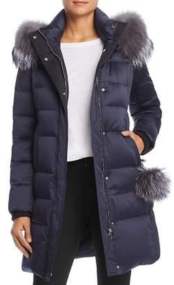 Maximilian Furs Fox Fur Trim Down Coat - 100% Exclusive