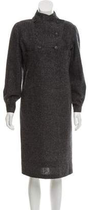 Geoffrey Beene Textured Knit Midi Dress