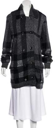 Burberry Knit Patterned Coat