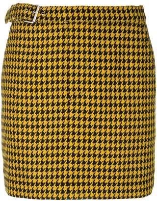 McQ Dogtooth mini skirt