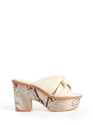 Very Volatile Morgan Snakeskin Platform Sandal