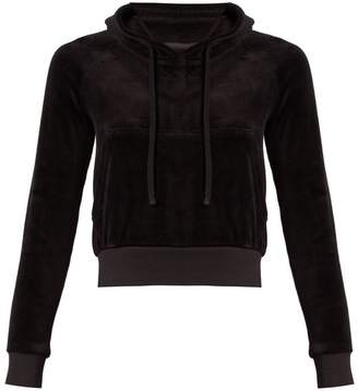 Vetements - X Juicy Couture Cotton Blend Velour Hooded Top - Womens - Black