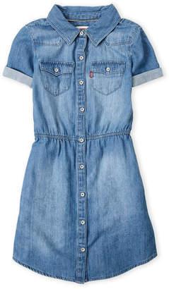 Levi's Girls 7-16) Chambray Western Shirtdress