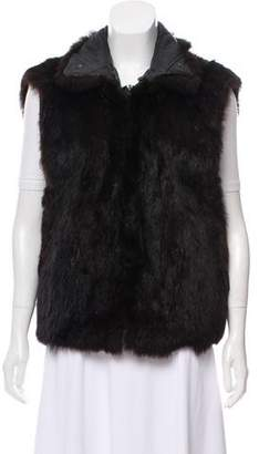 Andrew Marc Fur Zip-Up Vest