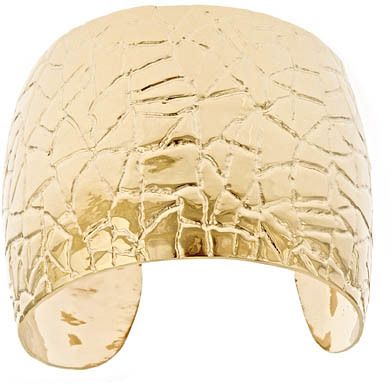 Gala by Daniela Swaebe Gold Crocodile Cuff