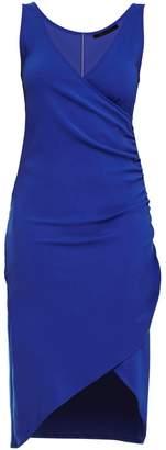 Philosofée - Blue Mid Length Shirred Dress