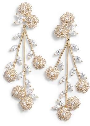 Kate Spade Falling Flowers Statement Earrings