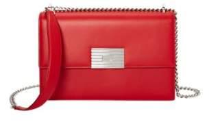 Ralph Lauren Calfskin Rl Chain Bag Red One Size