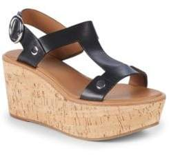 Frye Dahlia Rivet Leather Wedge Sandals