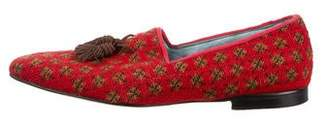 Tom Ford Embroidered Smoking Slippers