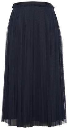 Banana Republic Petite Pleated Tulle Midi Skirt