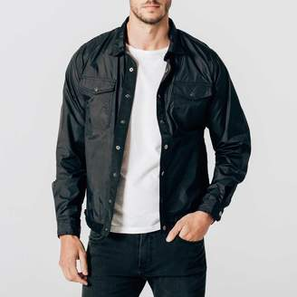 DSTLD Mens Nylon Shirt Jacket in Black