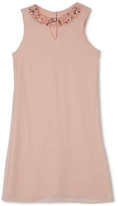 BCX Big Girls Embellished-Neck Shift Dress