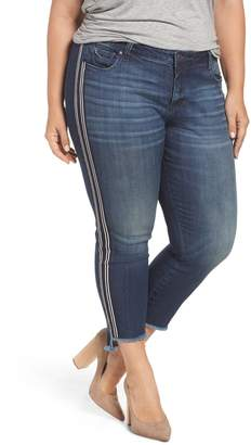 KUT from the Kloth Reese Side Stripe Uneven Ankle Jeans