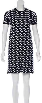 Derek Lam Short Sleeve Geometric Print Dress