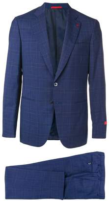 Isaia checked formal suit set