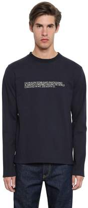 Calvin Klein Embroidered Cotton Jersey Sweatshirt
