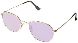 Ray-Ban - 0RB3548 Hexagonal Flat Lenses 51mm Fashion Sunglasses $175 thestylecure.com