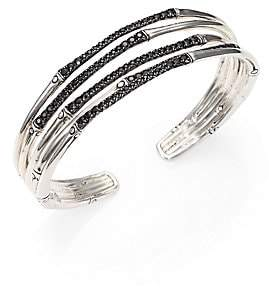 John Hardy Women's Bamboo Black Sapphire & Sterling Silver Four-Band Narrow Bracelet