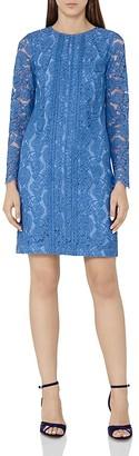 REISS Suki Lace Shift Dress $370 thestylecure.com