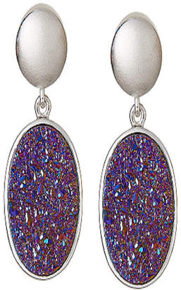 FINE JEWELRY LIMITED QUANTITIES Oval Drusy Quartz Sterling Silver Drop Earrings