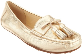 Isaac Mizrahi Live! Leather Moccasins with Tassel