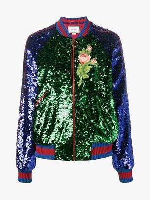 Gucci sequin embellished bomber jacket