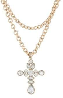 Topshop FREEDOM Crystal Cross Chain Choker Necklace