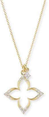 Jude Frances 18k Moroccan Diamond Pavé Flower Necklace