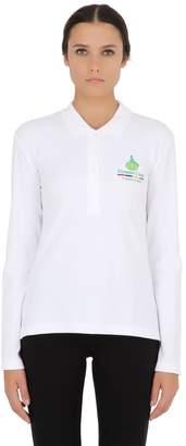 Long Sleeved Stretch Cotton Pique Polo