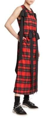 Simone Rocha Beaded& Bowed Tartan Dress
