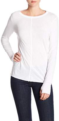 Michael Stars Crew Neck Thumbhole Long Sleeve Tee